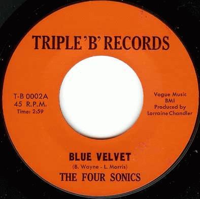 Four Sonics Blue Velvet Where Are You