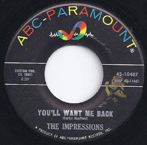 Impressions - It's All Right / You'll Want Me Back Album
