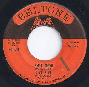 Jive Five - Never Never / People From Another World