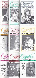Various Authors Cadence Magazine Volume 12 1986 9 Issues BOOKS