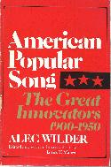 Wilder,Alec American Popular Song Great Innovators 1900-1950 BOOKS